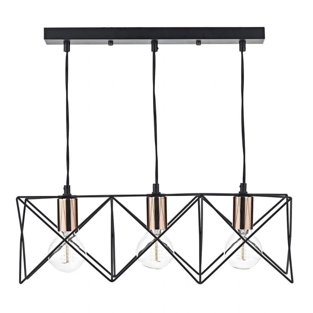 Midi 3 Light Bar Pendant Black MID0322